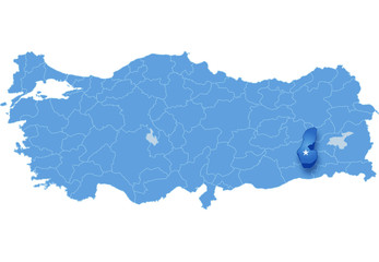 Map of Turkey, Batman