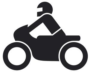 Piktogramm Motoradfahrer