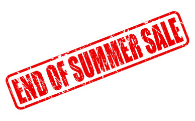 End of summer sale red stamp text