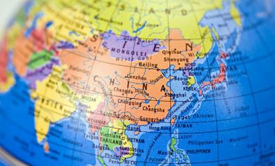 Globus mit Landkarte China