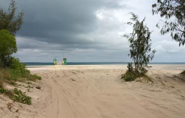 Strand Richtung Fraser Island