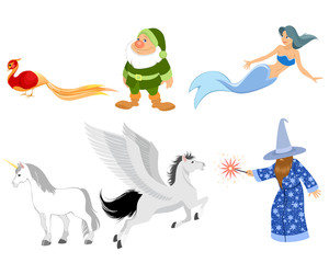 Six fairy-tale characters