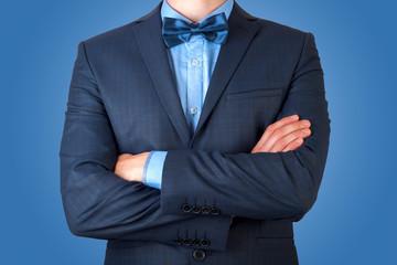 Young attractive man in elegant suit