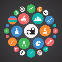 construction icons universal set