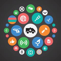 Medical icons universal set