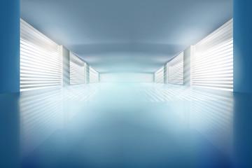Illustration of empty hall. Vector illustration.