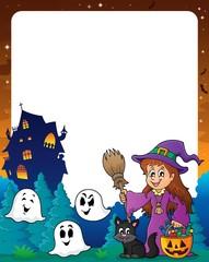 Halloween theme frame 8