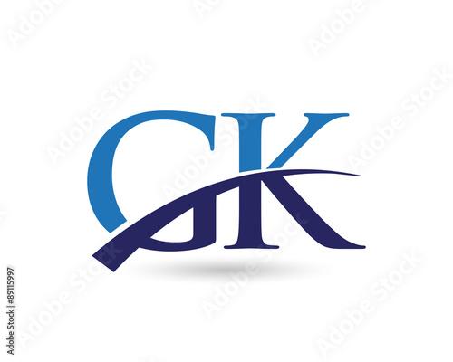 gk logo letter swoosh stock image and royalty free vector files on rh fotolia com gl logo gl logo designs