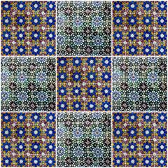 Fotomurales - Background collage. Ceramic tile, Azulejo, Lisbon, Portugal