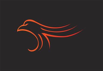Eagle logo vector illustration