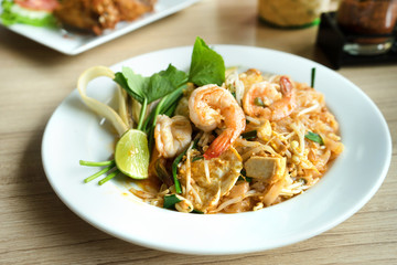 Pad Thai with Shrimps, Thailand Popular food