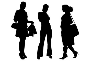 Vector silhouette of a women.