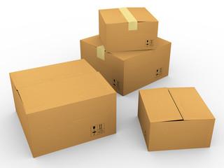 3d many carton