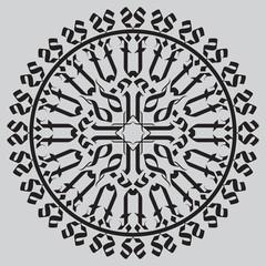 Gothic cross in rosette