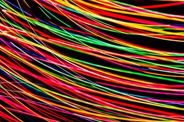 Modern art. Long exposure neon lights texture.