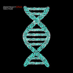 Abstract DNA. Colorful molecular structure. Vector illustration