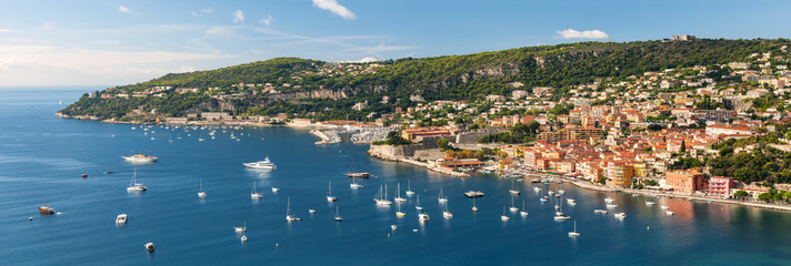 Villefranche-sur-Mer and Cap de Nice on French Riviera