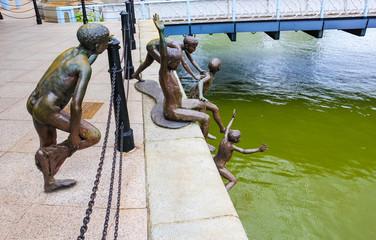 Singapore bronze statues
