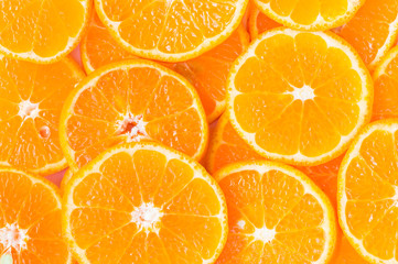 Orange slice for healthy food