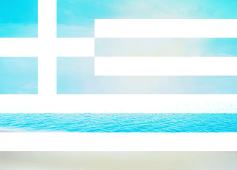 Greek flag Water Beach Background