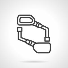 Bike mirrors black line vector icon