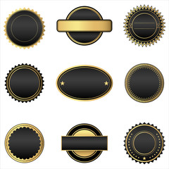 Black and Gold Emblems