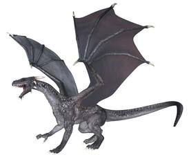 Gray Dragon - 3D rendered fantasy creature