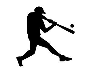 silhouette athlete baseball