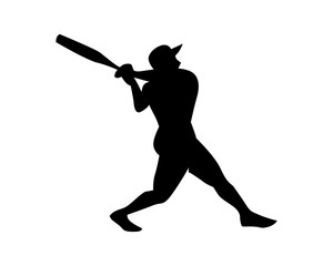 silhouette athlete baseball