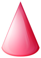 Pink cone on white