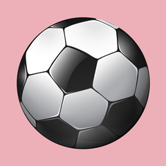 Soccer ball on pink