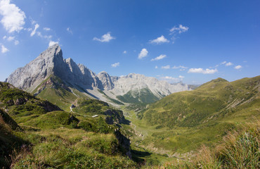 Carnic Alps View From Geo Trail Wolayersee In Lesachtal Wall mural