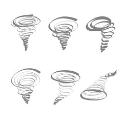 typhoon hand drawn icon set vector isolated.