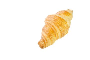 Fresh Butter Croissant on white background