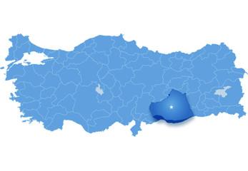 Map of Turkey, Sanliurfa
