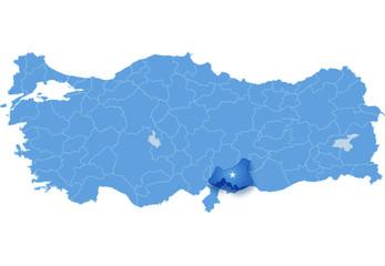 Map of Turkey, Gaziantep