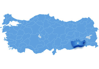 Map of Turkey, Mardin