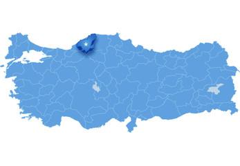 Map of Turkey, Karabuk