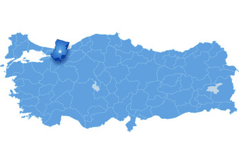 Map of Turkey, Sakarya