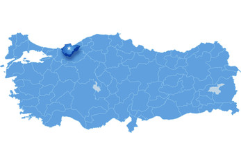 Map of Turkey, Duzce