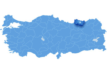 Map of Turkey, Trabzon