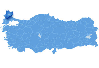 Map of Turkey, Kirklareli
