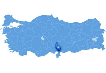Map of Turkey, Osmaniye