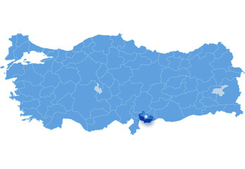 Map of Turkey, Kilis