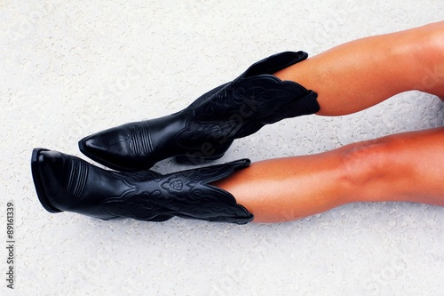 quotsexy cowgirl bootsquot stock photo and royaltyfree images