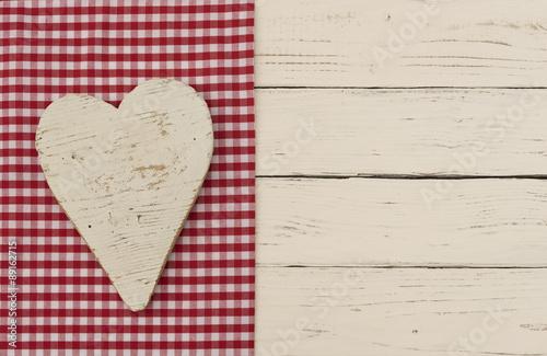 Holz Herz Liebe Shabby Weiß Im Landhausstil