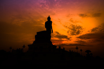 Silhouette Buddha image