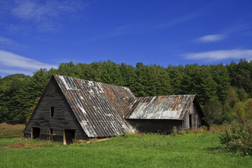 Old Barn in the Summer Mountains