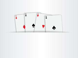 Paper cut background with poker cards