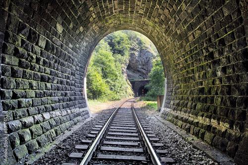 рельсы железная дорога деревья туннель  № 3118358  скачать